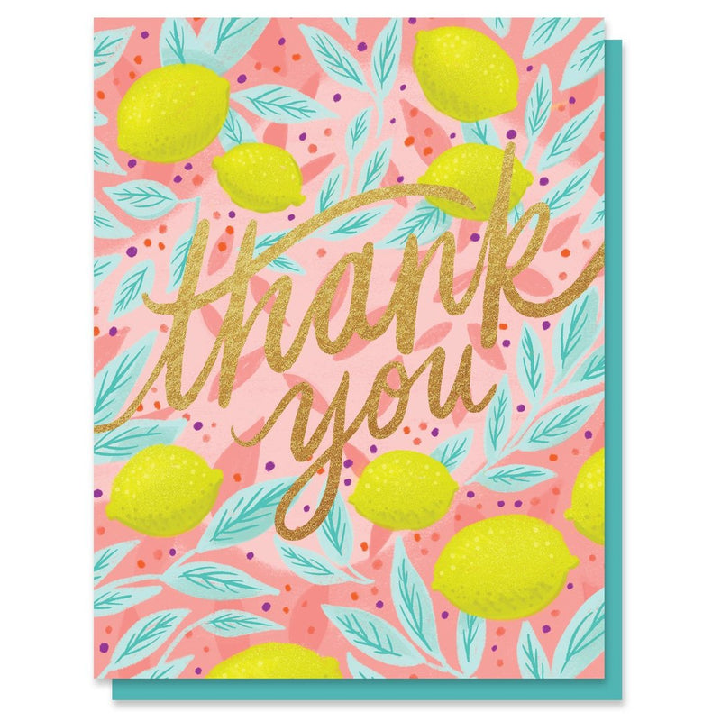 Card Thank You Lemons Card