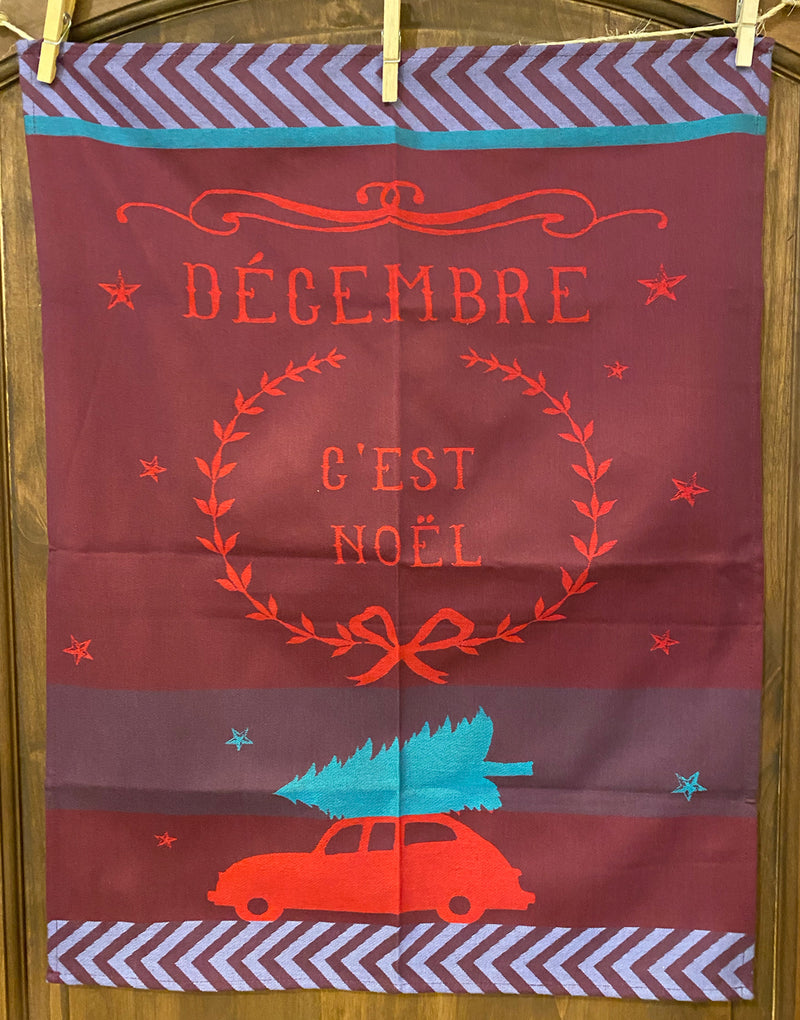Christmas Car Kitchen Towel