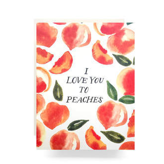 Card Love you to Peaches