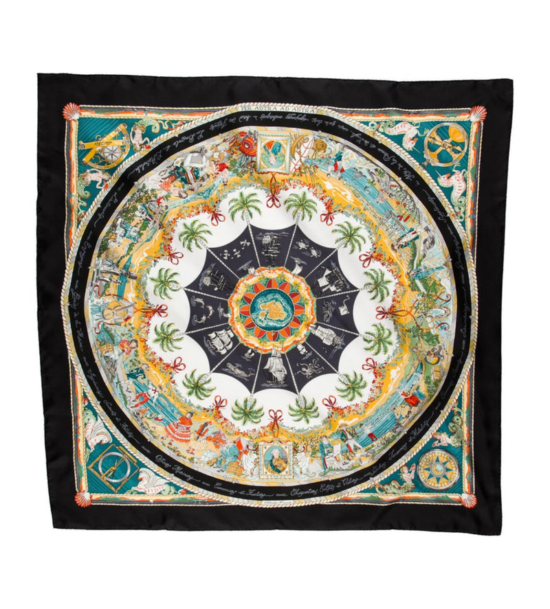 Hermes Scarf Per Astra ad Astra