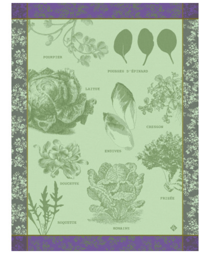 Salades Illustrées Green Kitchen Towel