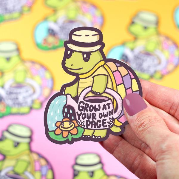 Grow at your own pace sticker
