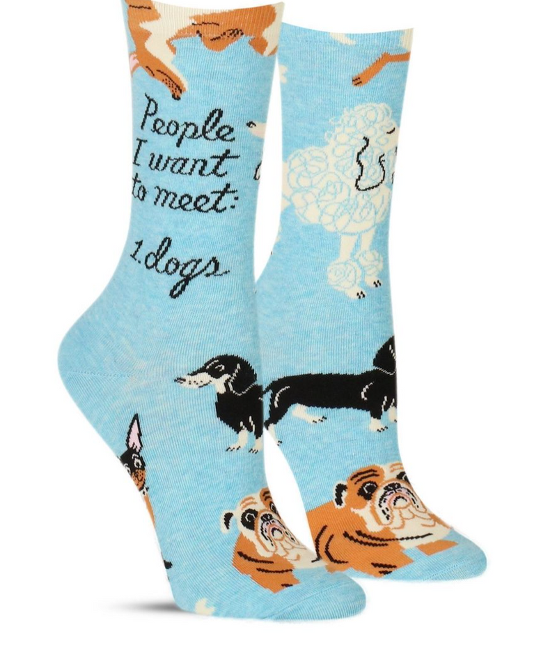Blue Q Women's Sock People to Meet: Dogs