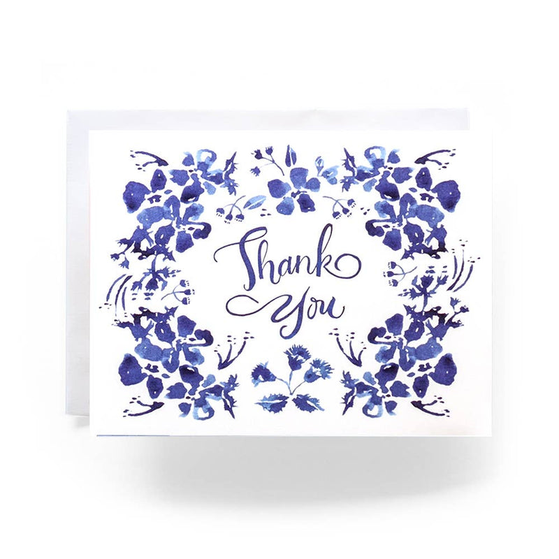 Card Blue Wildflower Thank You
