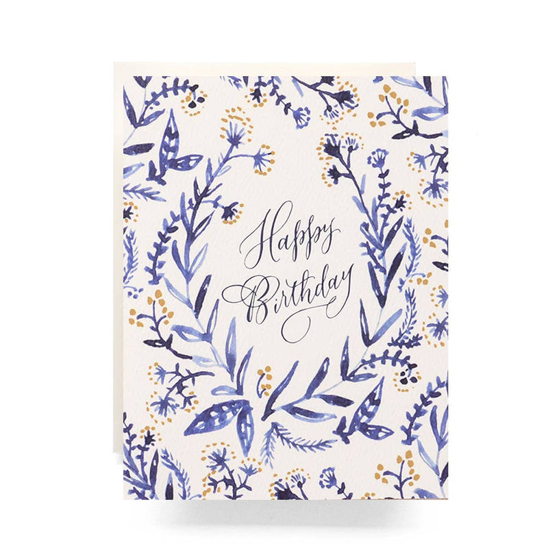 Card Cobalt & Canary Birthday