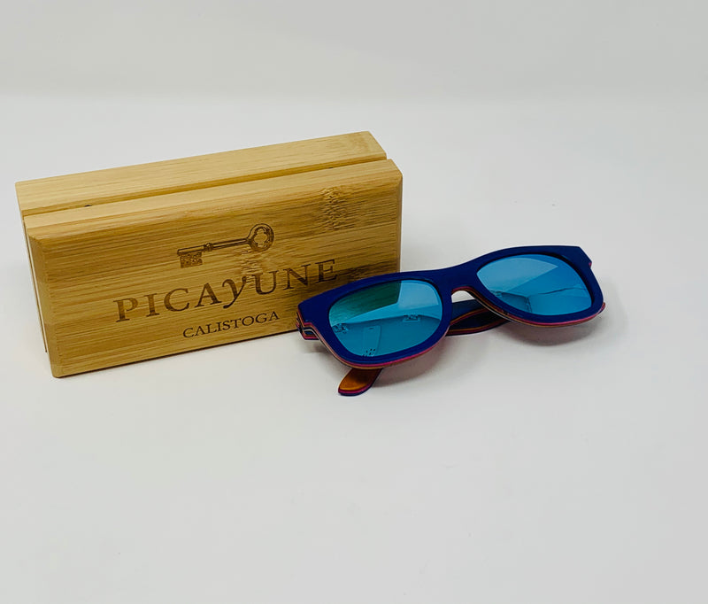 Picayune Sunglasses Blue Skateboard