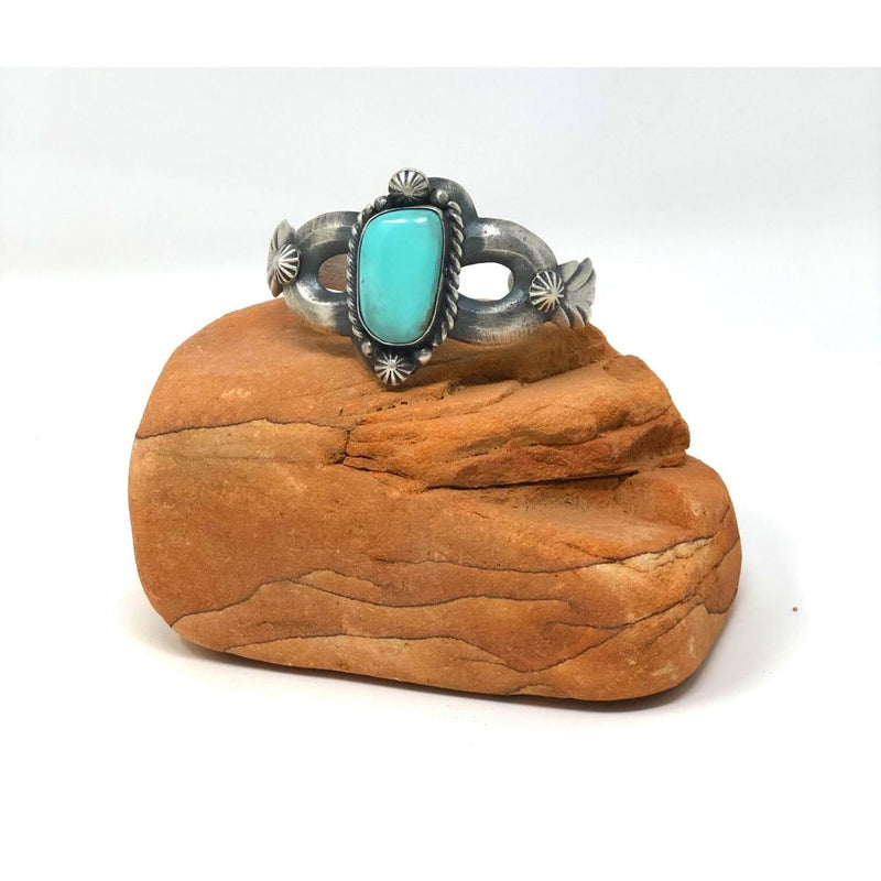 Turquoise Cuff Bracelet - Shooting Starts