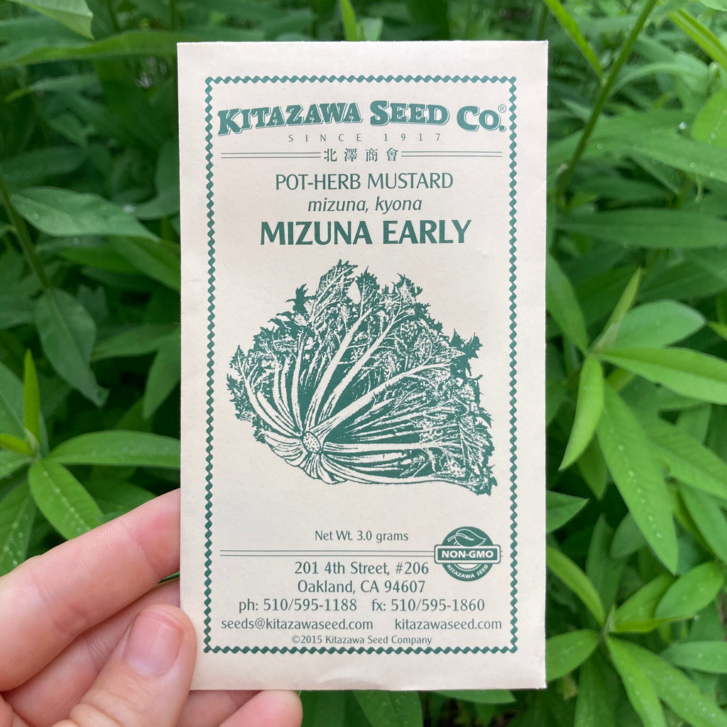 Green Mizuna Mustard Seed Packet