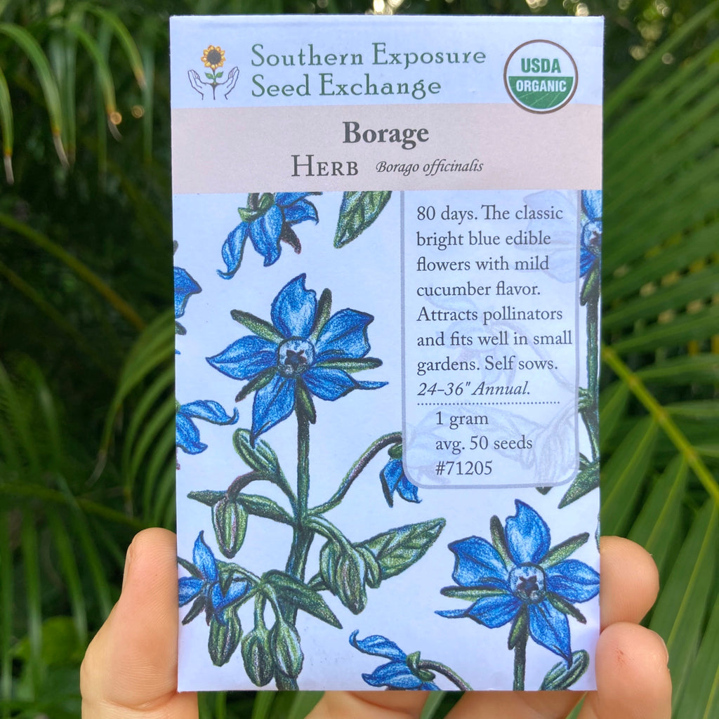 Blue Borage - seed packet