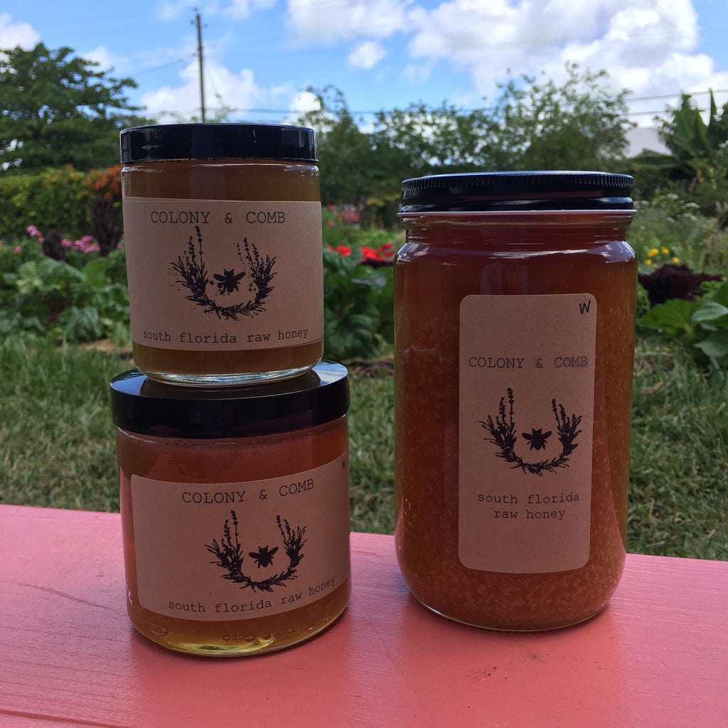Colony & Comb locally harvested raw honey, assorted sizes