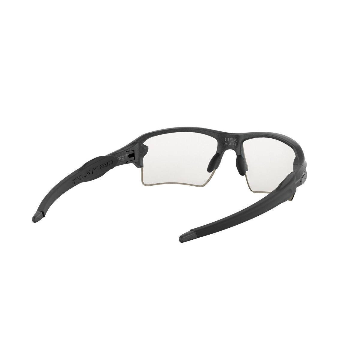 Oakley Flak 2.0 XL Sunglasses Steel Clear Black Iridium Photochromic Lens