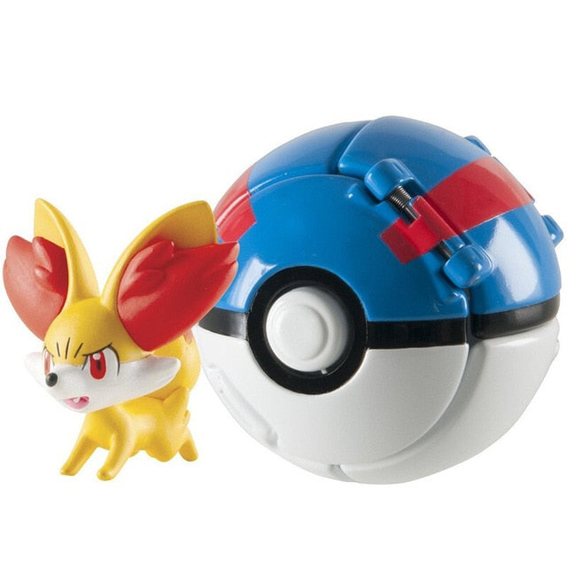 Pokemon action figure with pokeball toys for kids.