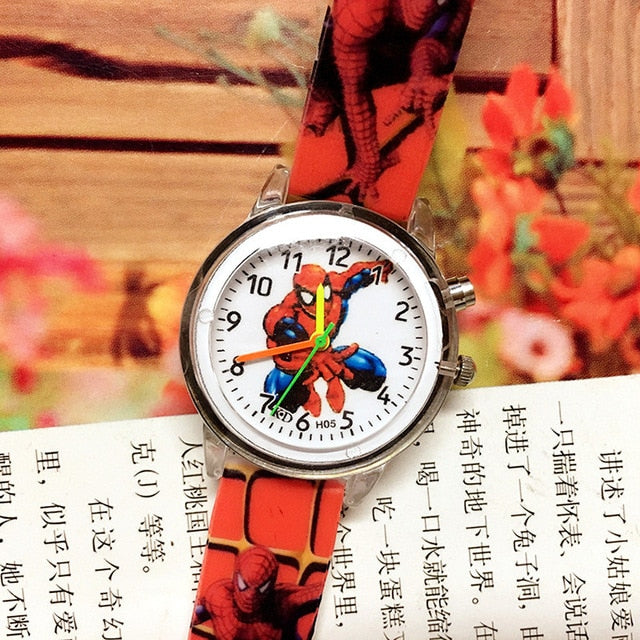 Disney Frozen Children Watches Spiderman Colorful Light Source Boys Watch Girls Kids Party Gift Clock Wrist Relogio Feminino