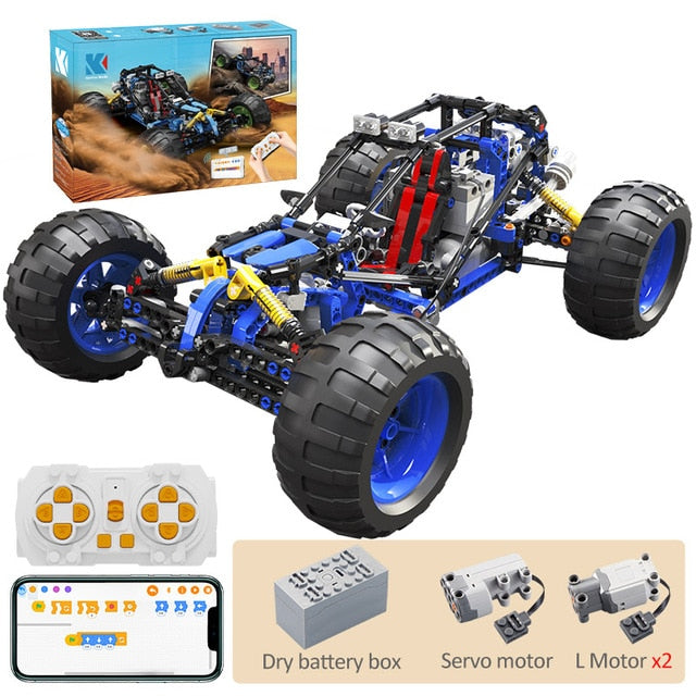 KAIYU high-tech RC off-Road Racing car Buggy MOC Building Blocks APP Programming Remote Control Vehicle Truck Bricks Toy Gifts