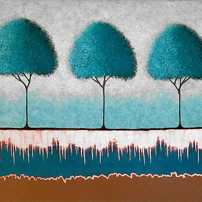 Teal Trees by Lisa