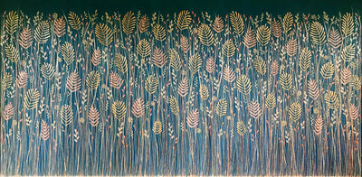 Where The Wild Things Grow - Original Textured Acrylic Nature Painting 183cm x 92cm