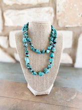 Load image into Gallery viewer, Meredith Green Turquoise Necklace