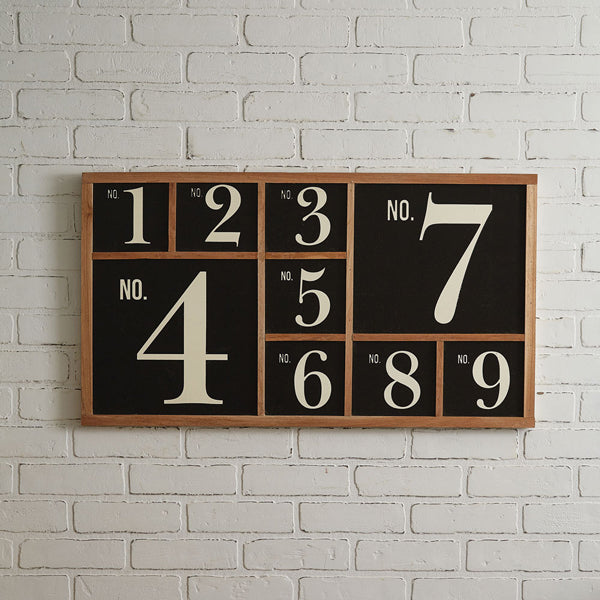 Wood Number Sign