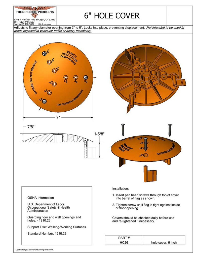 hole covers installation instructions