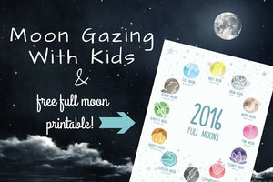 Intro to Moon Gazing + 2016 Full Moon Dates Printable!