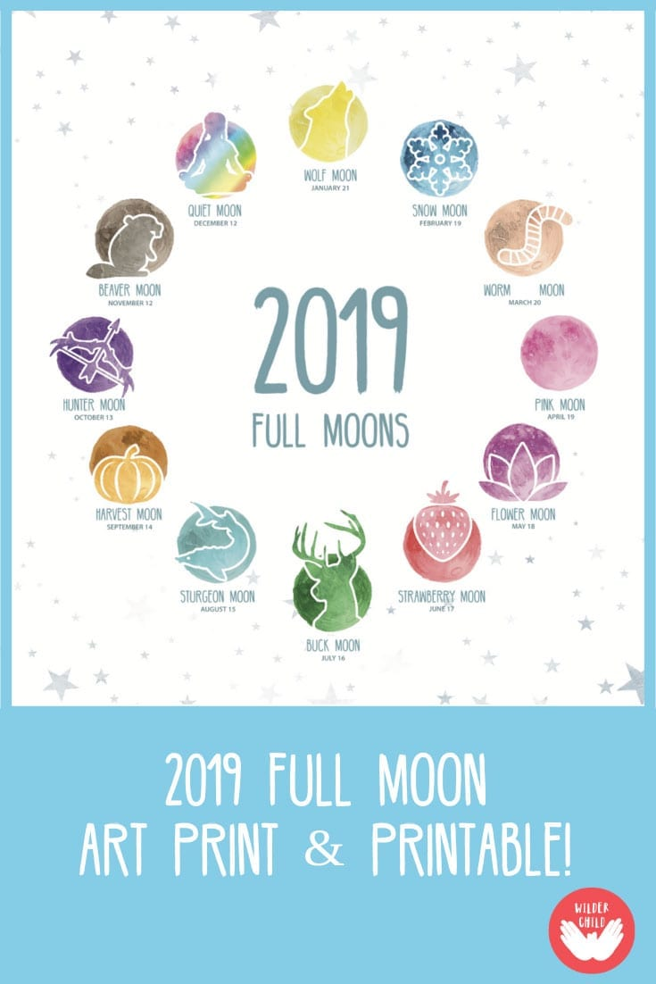 2019 Full Moon Names and Dates