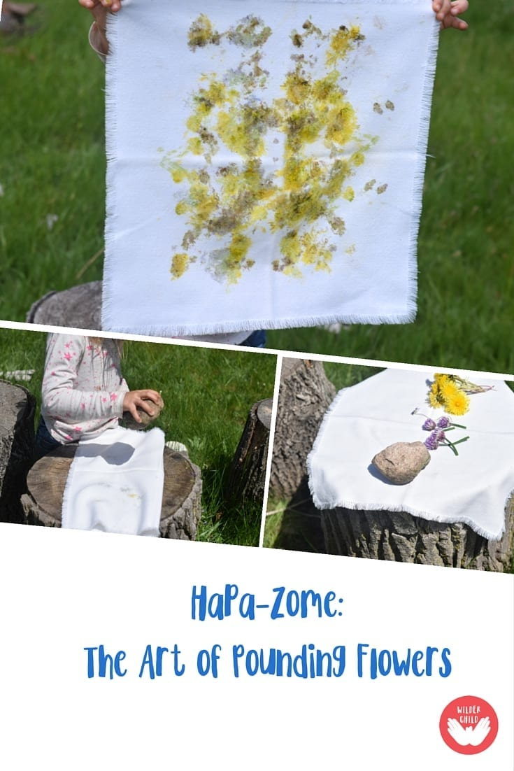 Hapa-zome art technique - pound some flowers with the kids!