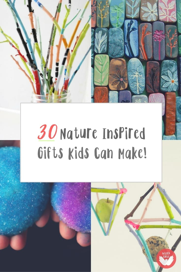 Lovely Nature Inspired Gifts That Kids Can Make