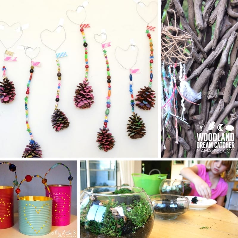 Beautiful easy gifts kids can make from Nature