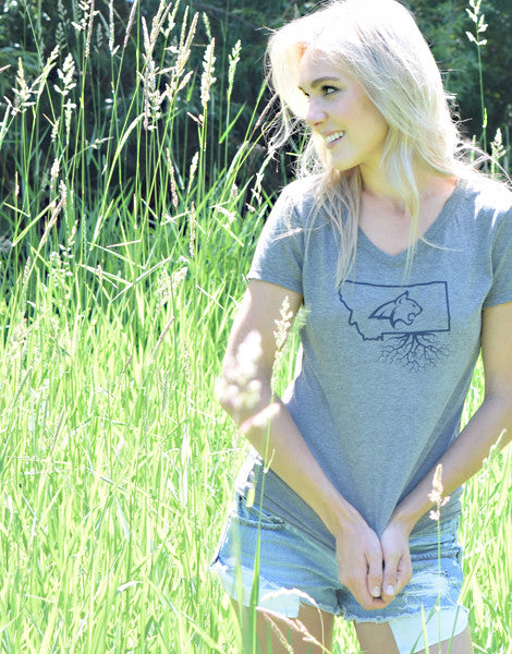Bobcat Roots Womens Traditional V-Neck