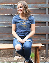 MSU Bobcat Women's V-Neck Tee