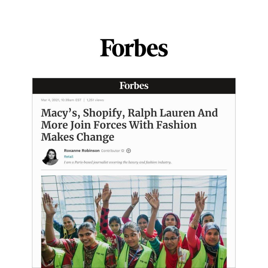 Macy's, Shopify, Ralph Lauren And More Join Forces With Fashion Makes Change