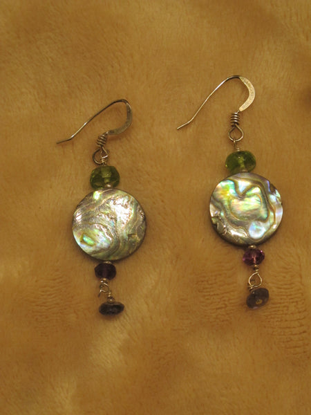 Sea Coin Earrings of Abalone