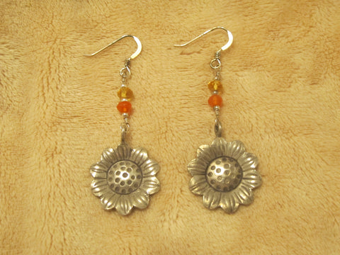 Sterling silver sunflowers