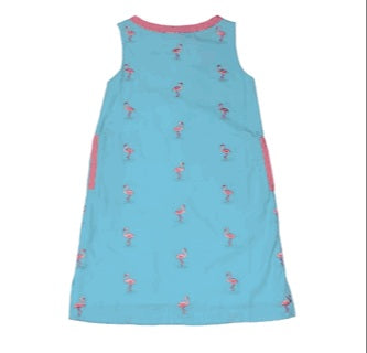 Embroidered Flamingo Dress