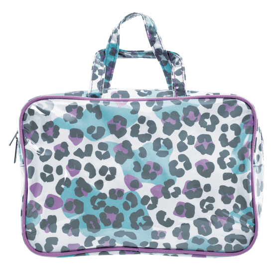 Snow Leopard Large Cosmetics Bag