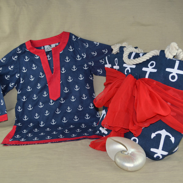 Anchor Beach Tote and Tunic