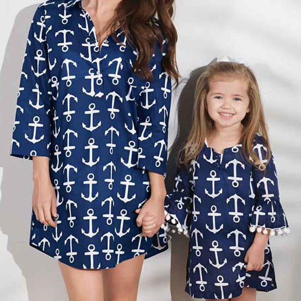 Mommy and Me Anchor Cover-Ups