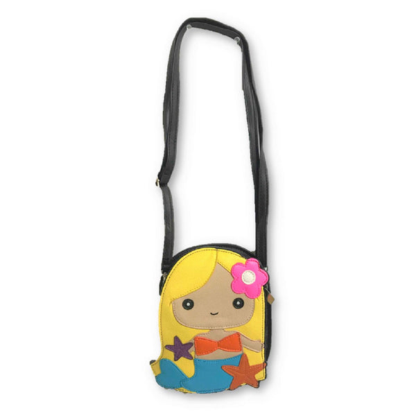 Mermaid Girl Blonde Shoulder Crossbody Purse