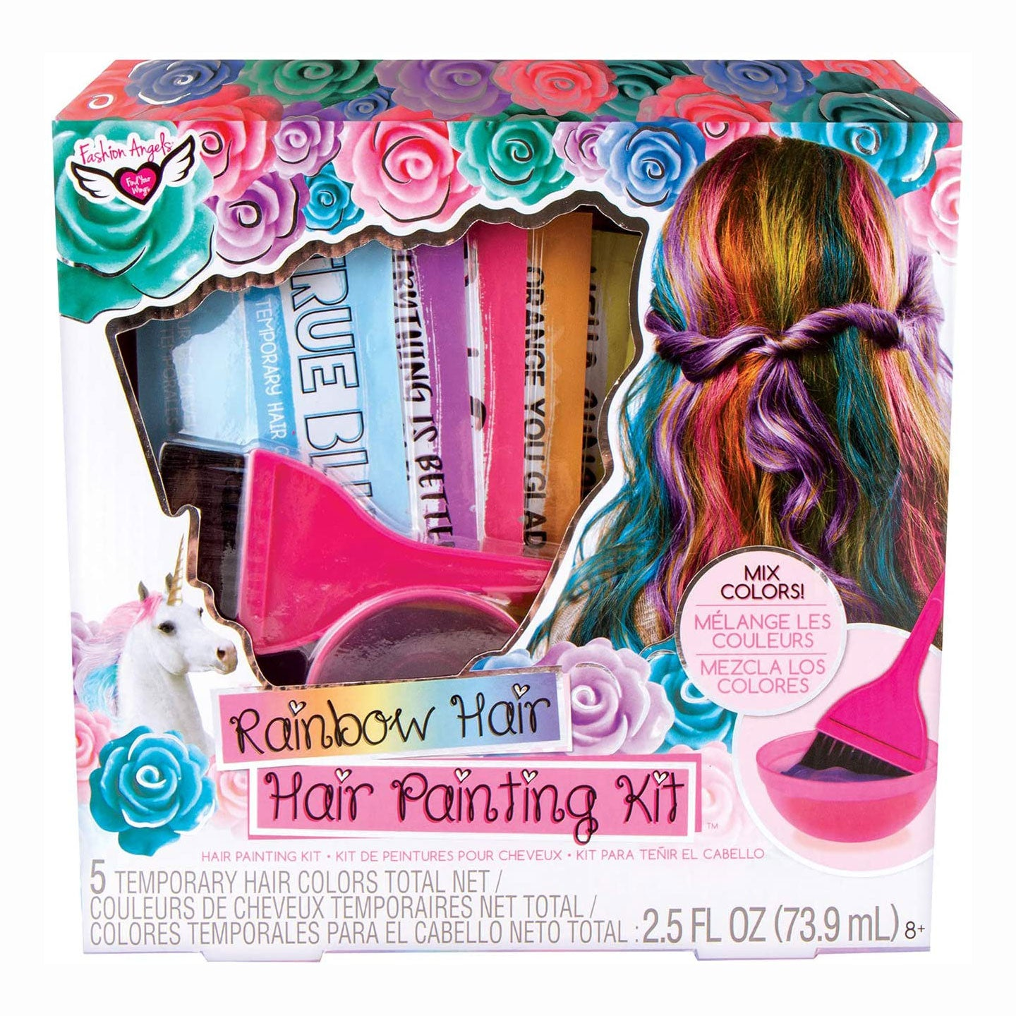 Rainbow Hair Painting Kit, Temporary Hair Color