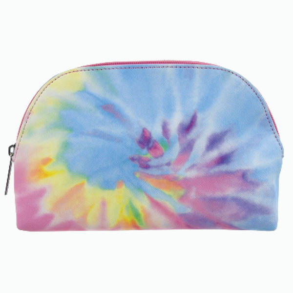 Pastel Tie Dye Oval Cosmetic Bag