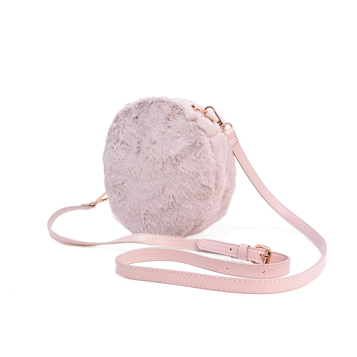 Furry Circle Crossbody Bag