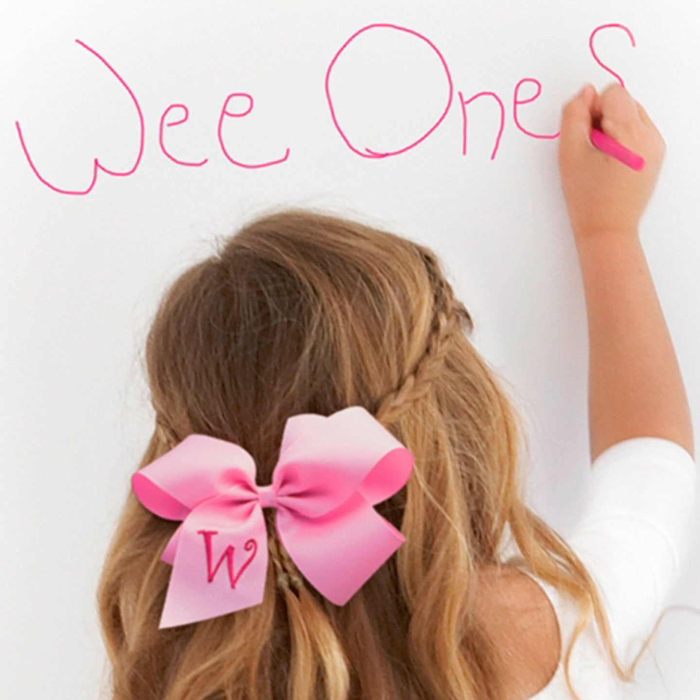 Pink Initial Hairbow