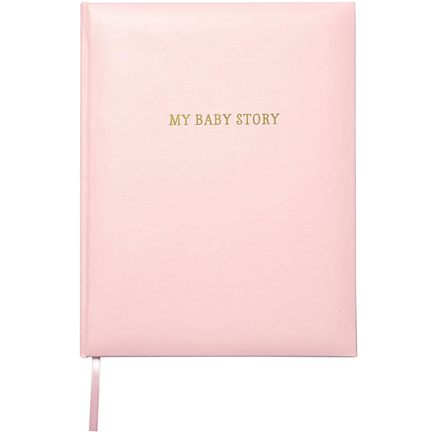 My Baby Story Pink Leather Memory Book