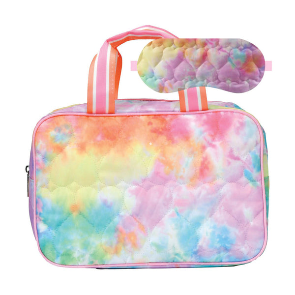 Cotton Candy Heart Large Cosmetic Bag and Sleep Mask