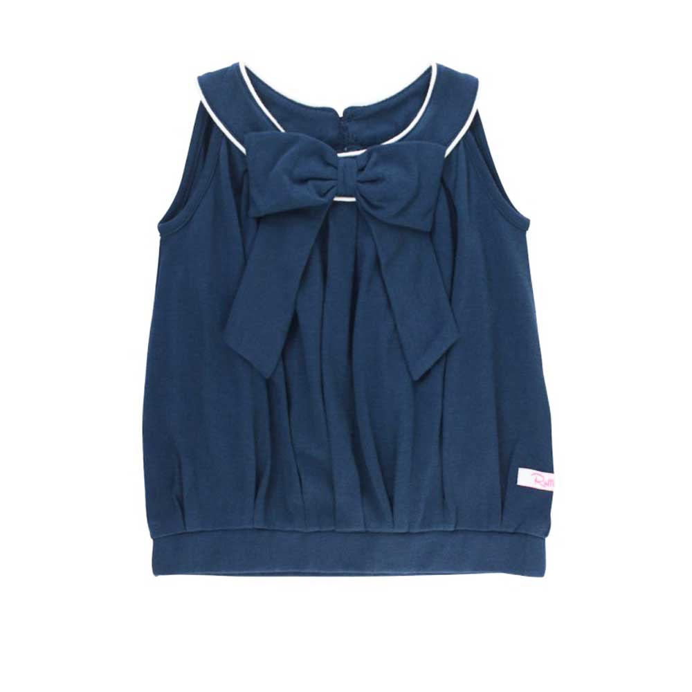 Navy Bow Front Scoop Tank