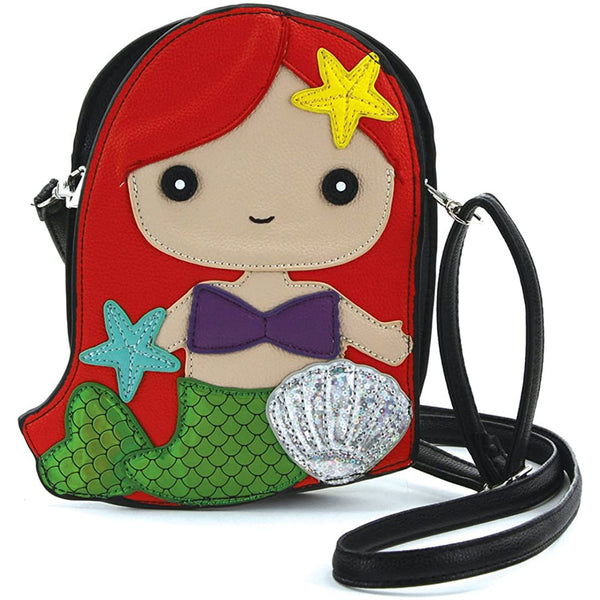 Redhead Mermaid Crossbody Purse