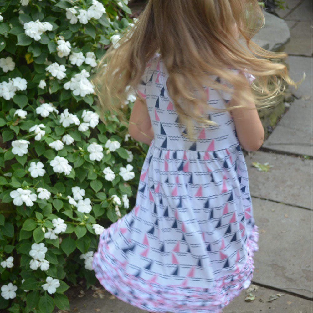 Regatta Pink Printed Ruffle Toddler Dress