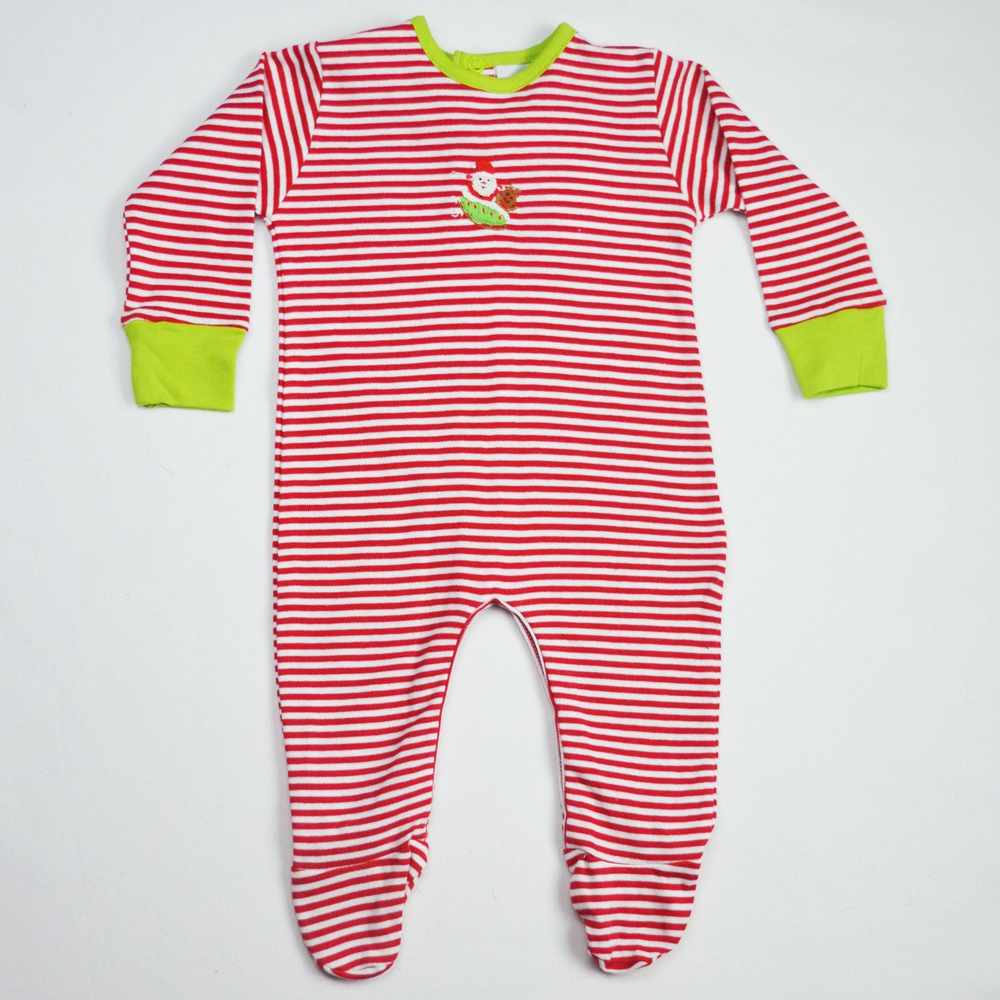 Stripes Santa Footie