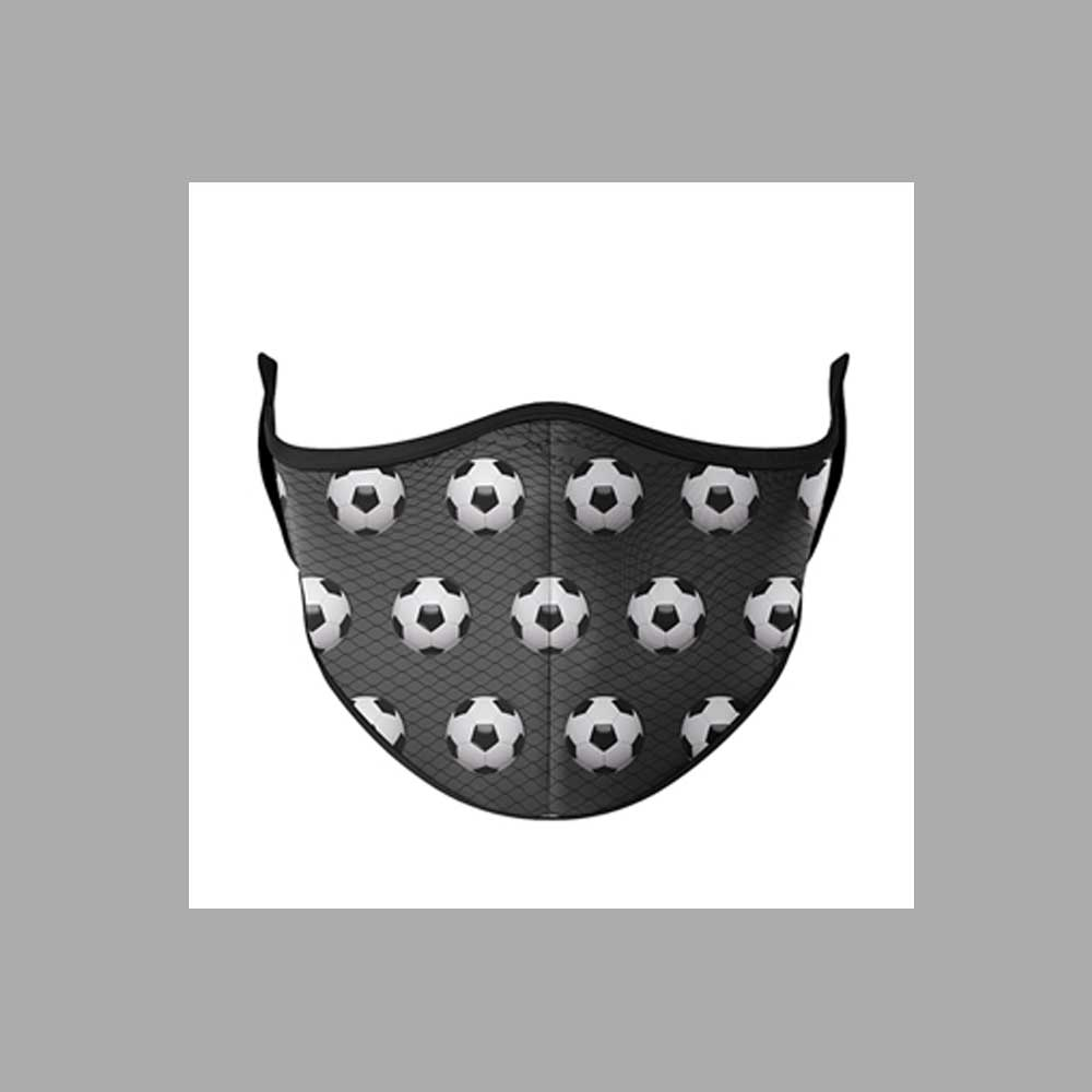 Soccer Fashion Face Mask - One Size Fits Most Ages 8+