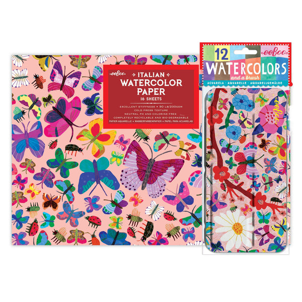 Butterflies Watercolors and Pad Bundle